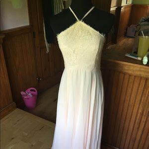 Lulus light pink maxi dress